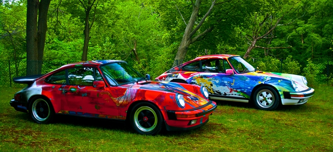 russo steele vend aux ench res deux sublimes porsche 911 art minute. Black Bedroom Furniture Sets. Home Design Ideas